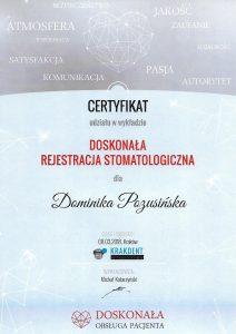 certyfikat dominika rejestracja stomatologiczna