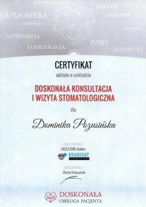 certyfikat dominika 8.03.2018